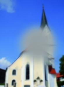 Kirche: Seheindruck mit Makula-Degeneration