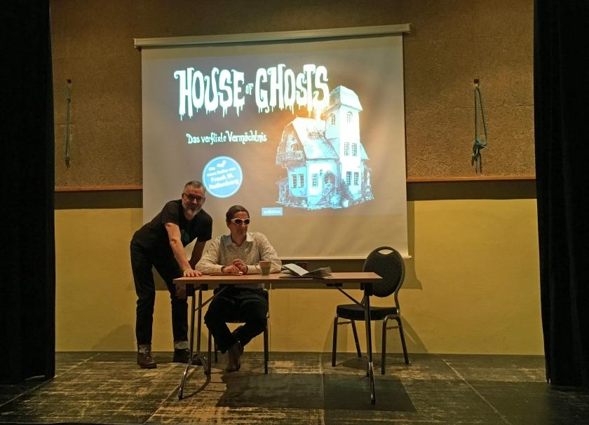 Frank Reifenberg und Heiko Kunert auf der Bühne